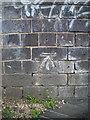 SP0886 : OS benchmark - Bordesley, St Andrews Road bridge by Richard Law