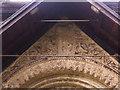 SE2740 : St John the Baptist, Adel - frieze by Stephen Craven