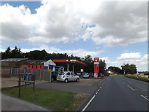 TL9573 : Fuel Filling Station off the A143 Bury Road by Adrian Cable