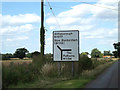 TM0988 : Roadsign on the B1077 Mile Road by Adrian Cable