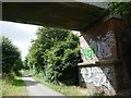 SE6140 : Graffiti on a bridge abutment by Graham Hogg