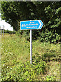 TM0374 : Roadsigns on Snape Hill by Adrian Cable