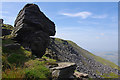 SD7474 : Gritstone outcrop on Ingleborough by Ian Taylor