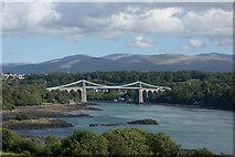 SH5571 : Menai Suspension Bridge, Anglesey by Brian Deegan