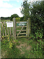 TM0173 : Footpath gate off Honeypot Lane by Adrian Cable