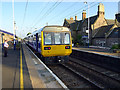 NU1827 : A 'Pacer' train stands in Chathill station by John Lucas