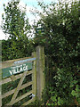 TM0173 : Footpath sign off Honeypot Lane by Adrian Cable
