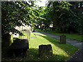 NZ2464 : The graveyard, St Andrew's Church, Newcastle by John Lucas