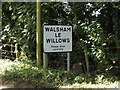 TL9971 : Walsham Le Willows Village Name sign on Summer Road by Adrian Cable