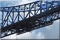 NZ5021 : Wheels and rails, Transporter Bridge by Richard Webb