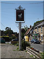 TL9969 : The White Horse Inn Public House sign by Adrian Cable