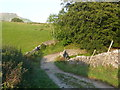 SD8172 : Horton Scar Lane crossing a little valley, Horton in Ribblesdale by Humphrey Bolton