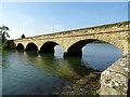 NU2410 : Road bridge over the River Aln by John Lucas