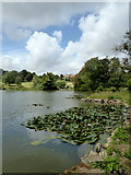 TR0653 : View across the lake to Chilham Castle by pam fray