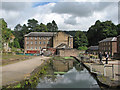 SK2956 : The mill stream at Arkwright's Mill by John Sutton