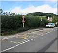 SO5015 : Hereford Road bus stop, Monmouth by Jaggery