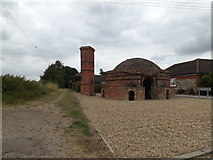 TM0174 : The Down Draft Kiln off Manning's Lane by Adrian Cable