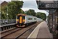 TM3863 : Saxmundham station platform by Robert Eva