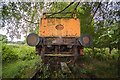 SJ2165 : Derelict locomotive near Mold, Flintshire (2) by Mike Searle