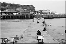 NZ8911 : Harbour Wall, Whitby by Peter Turner
