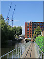 TQ3083 : Temporary footpath, Regent's Canal Towpath by Oast House Archive