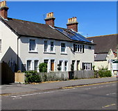 SZ1593 : Short row of houses, Stour Road, Christchurch by Jaggery