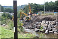 SO2001 : Construction work for bridge, River Ebbw, Aberbeeg by M J Roscoe