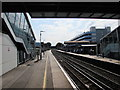 SU4416 : Between footbridges at Southampton Airport (Parkway) railway station by Jaggery