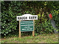 TM0889 : Haugh Farm sign by Adrian Cable