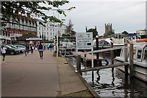 SU7682 : Boats on the Thames at Henley by Nigel Mykura