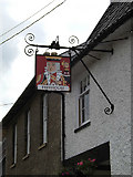 TM0890 : The Kings Head Public House sign by Adrian Cable