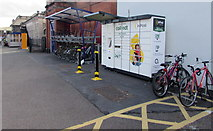 SX9193 : InPost terminal outside  Exeter St Davids railway station by Jaggery