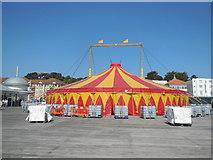 TQ8109 : Big Top Tent, Hastings Pier by Paul Gillett