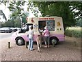 SU1608 : Rockford: ice cream queue at Moyles Court by Chris Downer