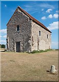 TM0308 : Chapel of St Peter on the Wall, Bradwell-on-Sea: exterior by Julian Osley