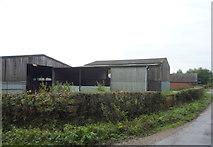 SK1433 : Farm buildings, Flackets Lane  by JThomas