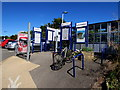 SX9884 : Information boards at the entrance to Lympstone Village railway station by Jaggery