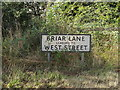 TM0374 : Briar Lane sign by Adrian Cable