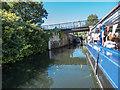 TL3514 : Entering Lock on River Lea, Ware, Hertfordshire by Christine Matthews