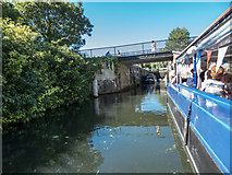 TL3514 : Entering Lock on River Lea, Ware, Hertfordshire by Christine Matthews