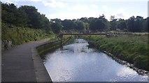 NT6578 : Bridge over the Biel Water by Richard Webb