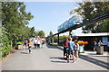 SJ4170 : Approaching the Elephant Bridge at Chester Zoo by Jeff Buck