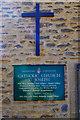 SP2706 : St. Joseph's Catholic Church (4) - information board, Arkell Avenue, Carterton, Oxon by P L Chadwick