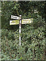 TM0370 : Roadsign on Finningham Road by Adrian Cable