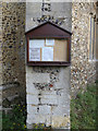 TM0669 : St Bartholomew's Church Notice Board by Adrian Cable