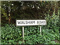TM0669 : Walsham Road sign by Adrian Cable