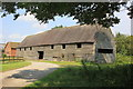 SJ8358 : Medieval Barn at Little Moreton Hall Farm by Jeff Buck