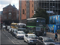 SE3033 : Old buses on New York Street, Leeds by Stephen Craven