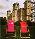 SK4663 : Deckchairs on the lawn by Graham Hogg