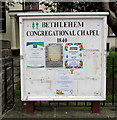 SO2508 : Activities board outside Bethlehem Congregational Chapel, Blaenavon by Jaggery